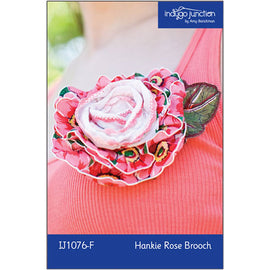 Hankie Rose Brooch Digital PDF Pattern