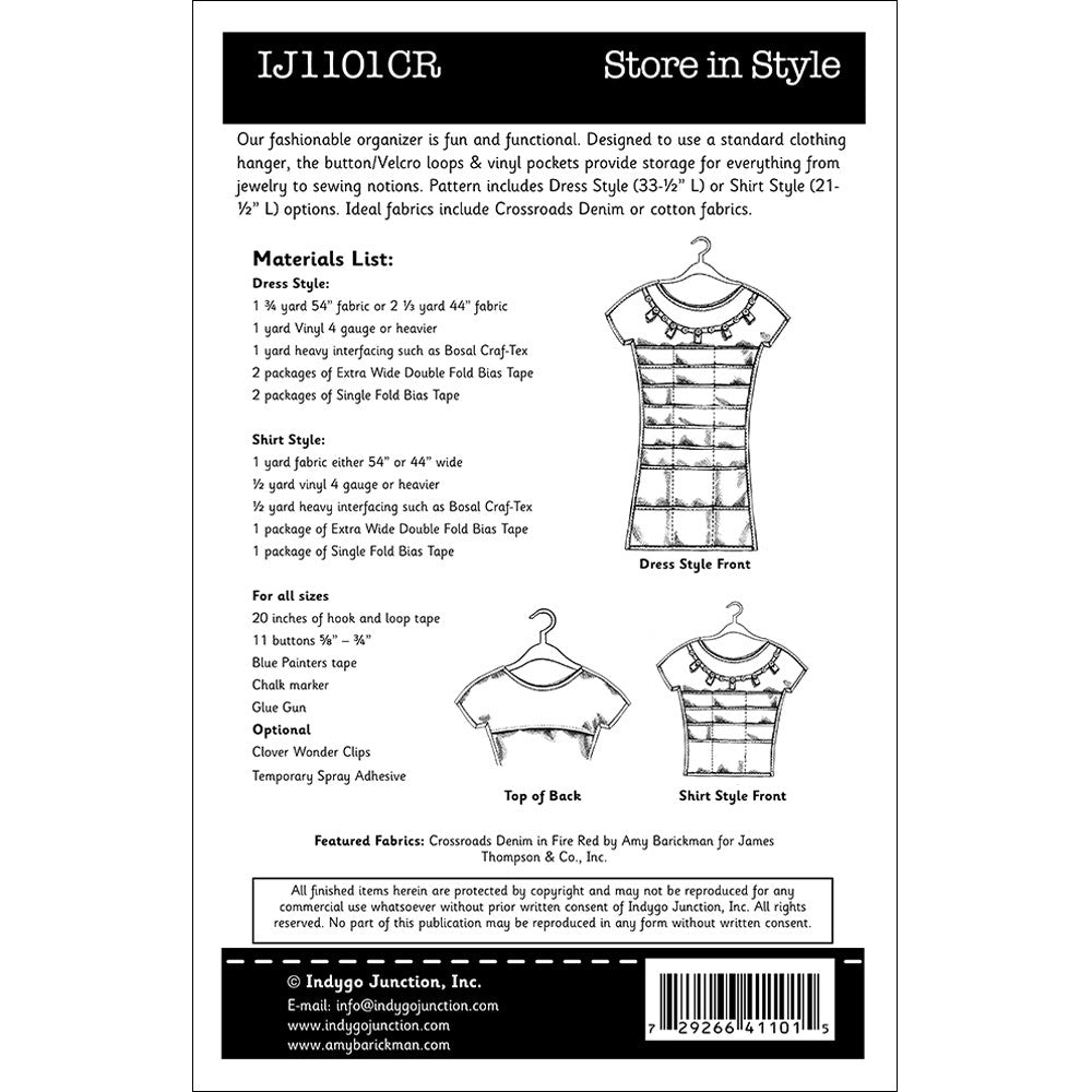 Store in Style sewing pattern from Indygo Junction – IndygoJunction