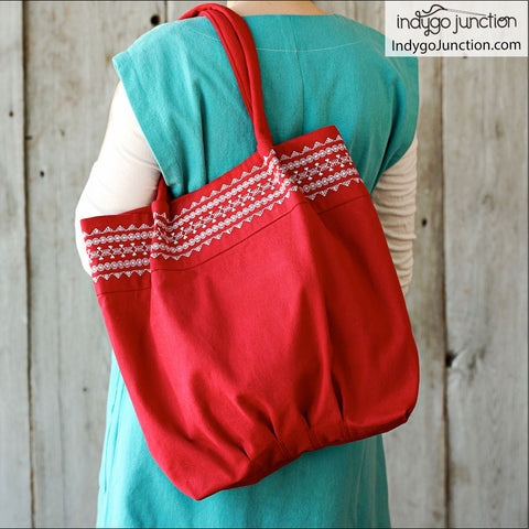 Stitched Top Tote PDF Pattern