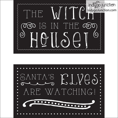 Legs Celebrate Stuffed Witch & Elf Decor Pattern