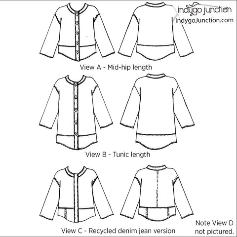 Modern Medley Top & Tunic Pattern
