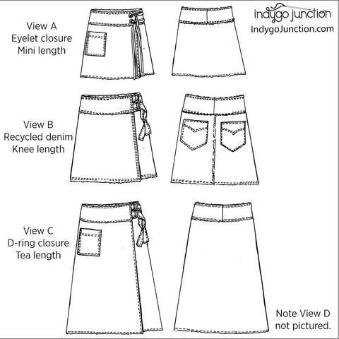 Sidekick Wrap Skirt PDF Pattern