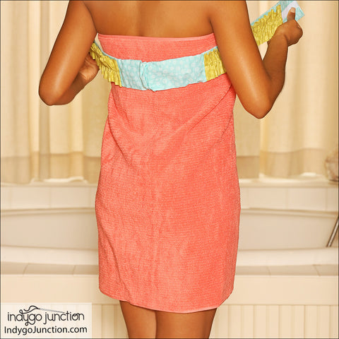 Spa Towel Wrap & Turban Shower Set PDF Pattern