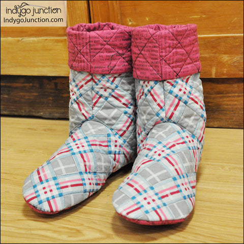 Bedtime Boots Adult Slipper Pattern