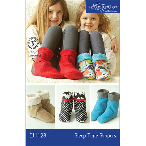 Sleep Time Children's Slippers Pattern