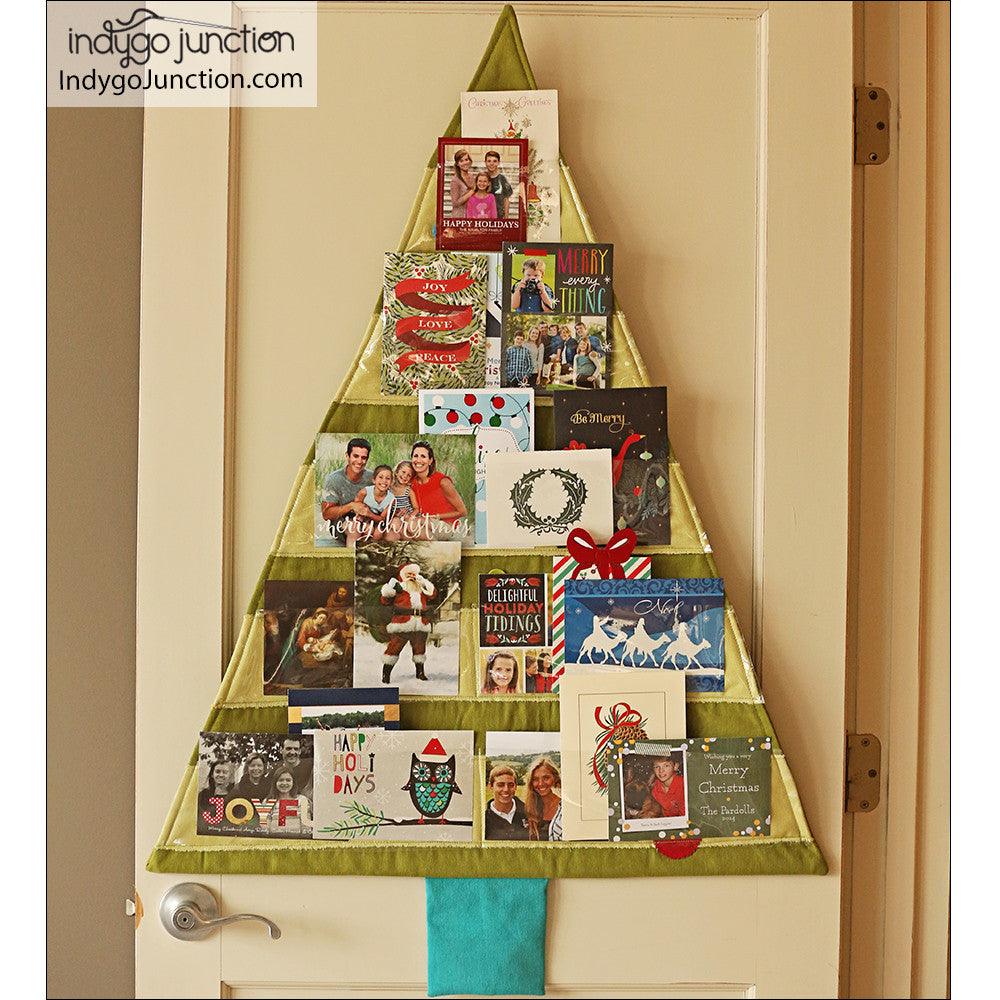 christmas card trees sewing pattern by indygo junction indygojunction