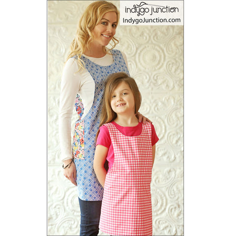 Crossback Reversible Adult and Child Apron Pattern