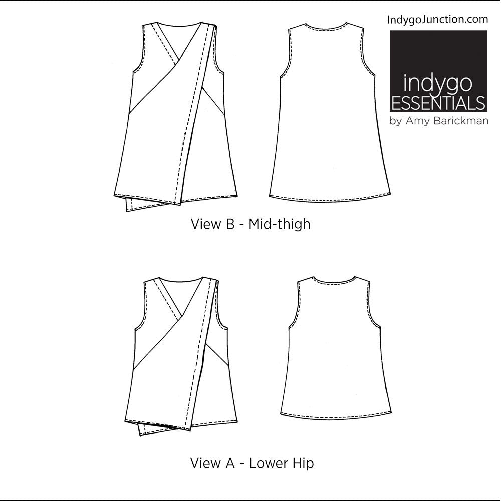 asymmetrical top tunic by indygo essentials indygojunction