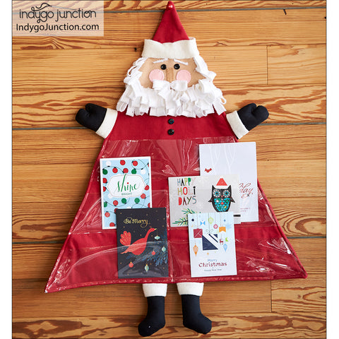 Santa's Advent Calendar & Christmas Card Holder Pattern