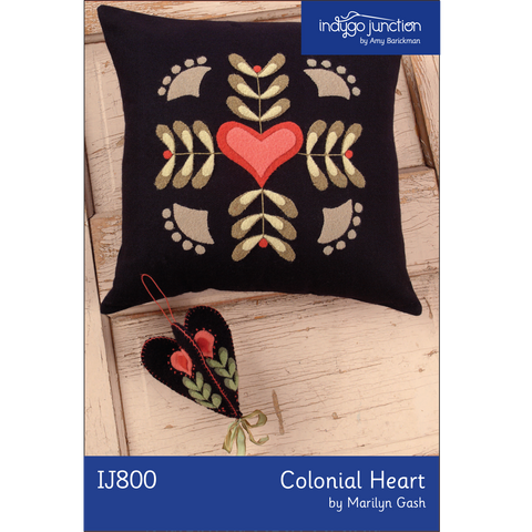 Colonial Heart Pillow & Ornament Digital PDF Pattern