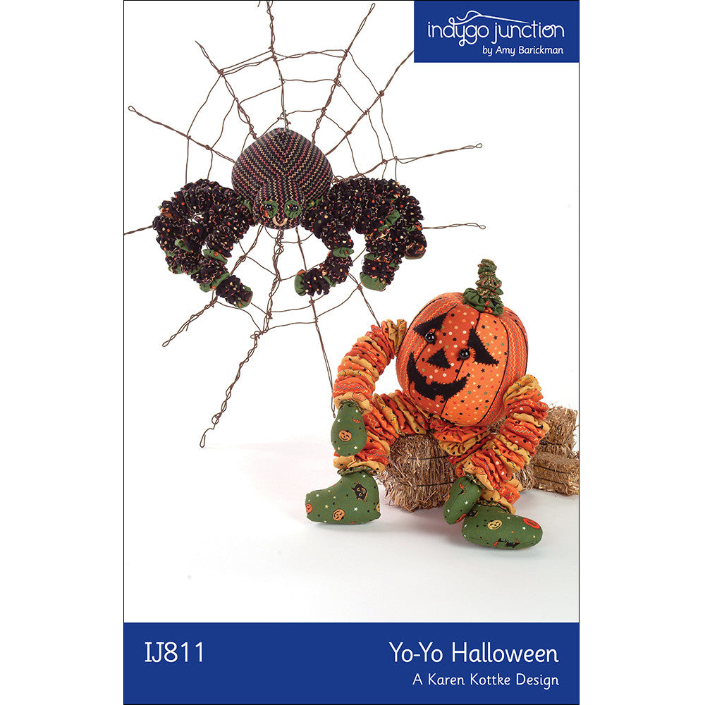 Yo-Yo Halloween Stuffed Spider & Pumpkin Pattern