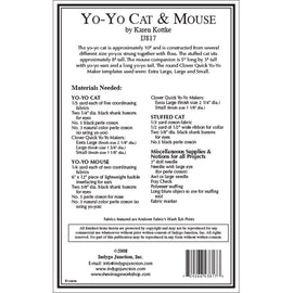 Yo-Yo Stuffed Cat & Mouse Pattern