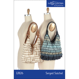Serged Satchel Ruffled Purse PDF Pattern