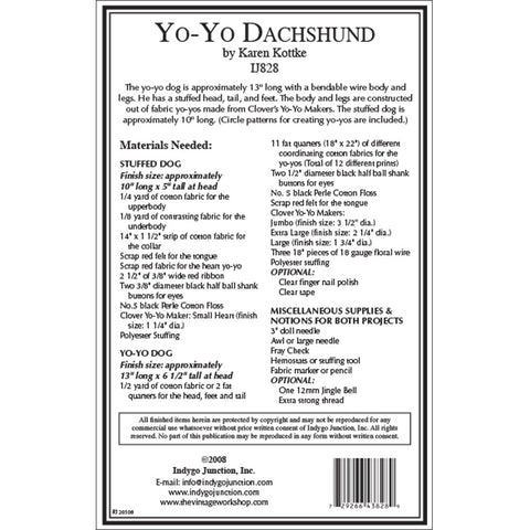 Yo-Yo Stuffed Dachshund Dog Pattern