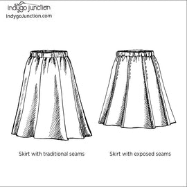 Girly Gored Skirt Pattern
