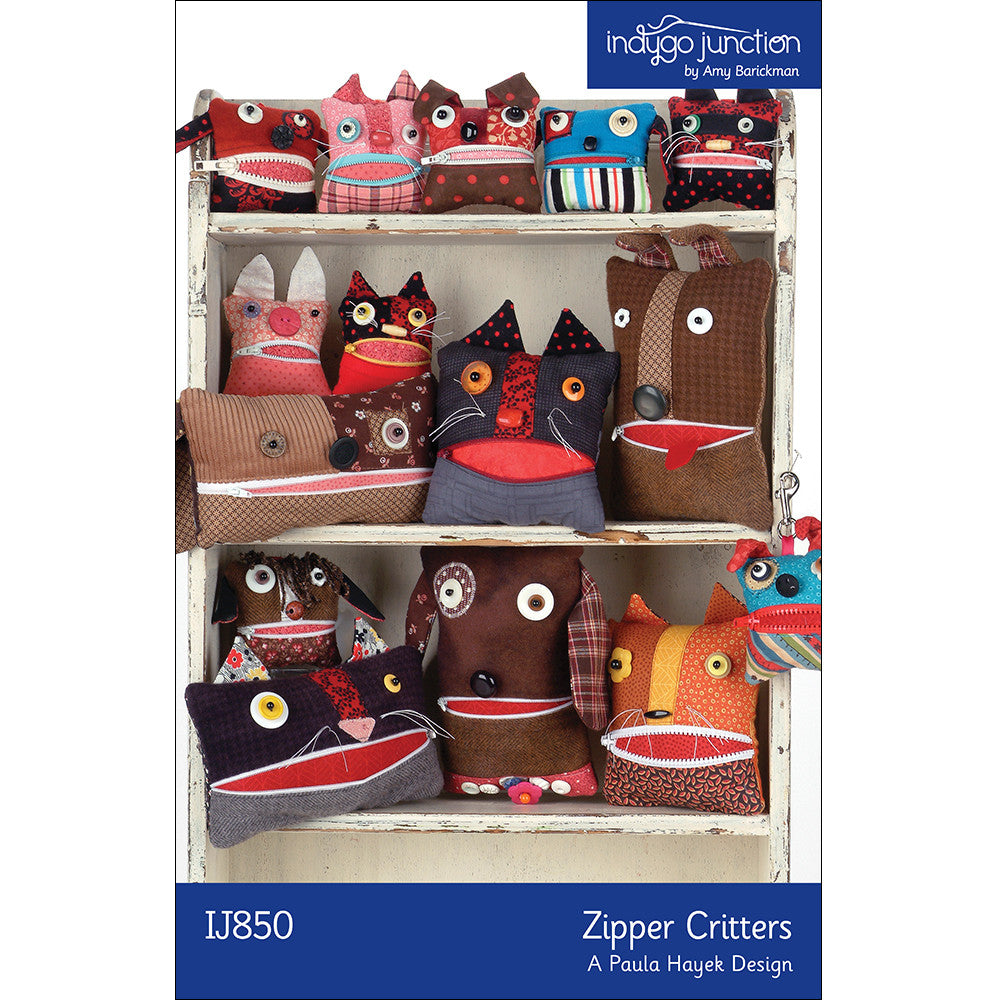 Zipper Critters Digital PDF Pattern