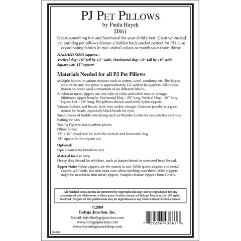 PJ Pet Pillows Pattern