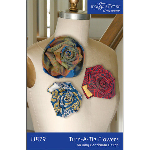 Recycled Turn-A-Tie Flower PDF Pattern
