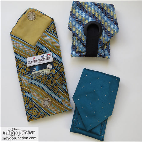Recycled Tie Pocket Pouch PDF Pattern