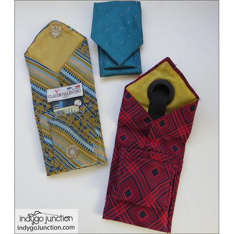 Recycled Tie Pocket Pouch Pattern