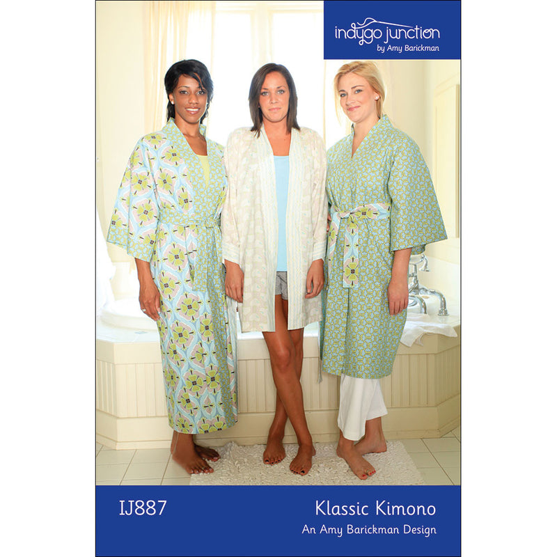 Klassic Kimono Robe Sewing Pattern From Indygo Junction Indygojunction