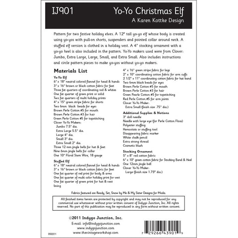 Yo-Yo Christmas Elf Pattern