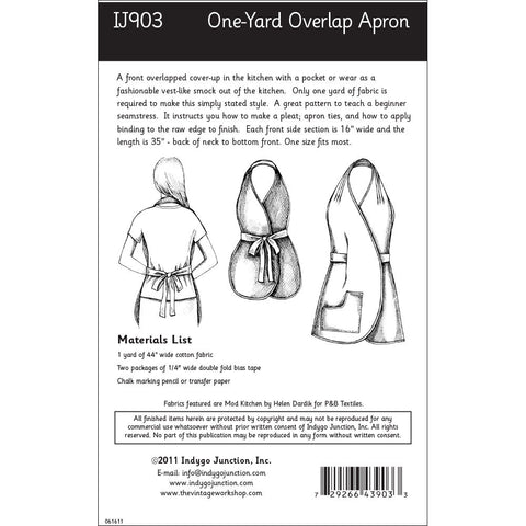 One-Yard Overlap Apron