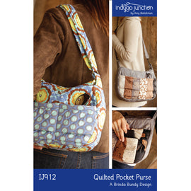 Quilted Pocket Purse PDF Pattern