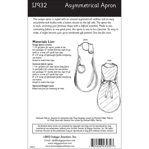 Asymmetrical Apron sewing pattern from Indygo Junction