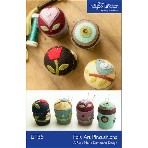 Folk Art Pincushions PDF Pattern