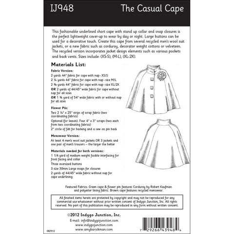 The Casual Cape Pattern