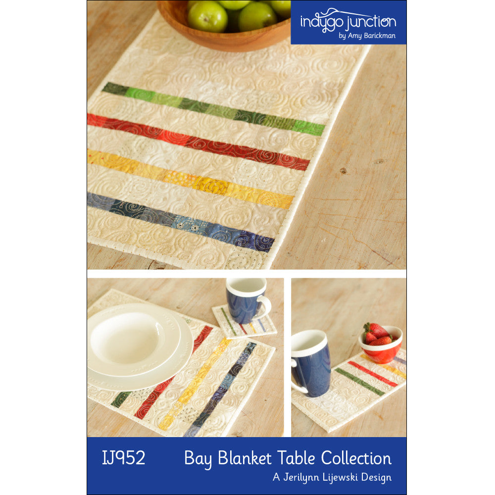 Bay Blanket Three Piece Quilted Table Collection PDF Pattern
