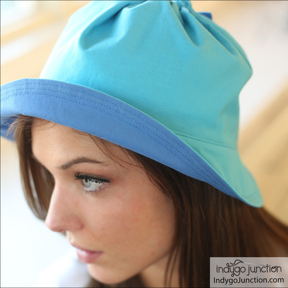 reversible sun hat sewing pattern from indygo junction