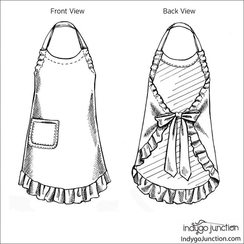 Grow-with-Me Apron Digital PDF Pattern
