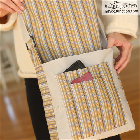 Recycled Cargo Pocket Purse Pattern