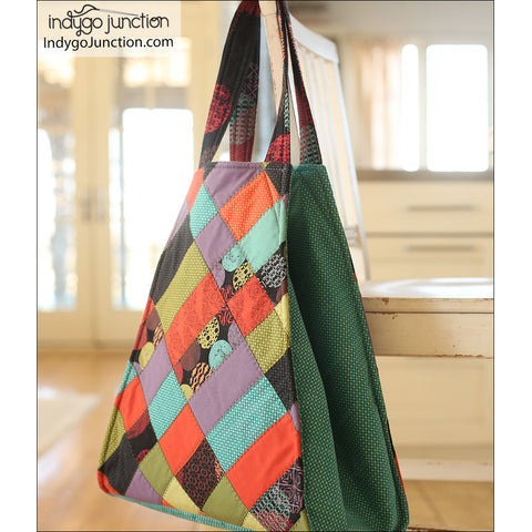Trapezoid Quilted Tote PDF Pattern