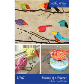 Friends of a Feather Stuffed Bird PDF Pattern