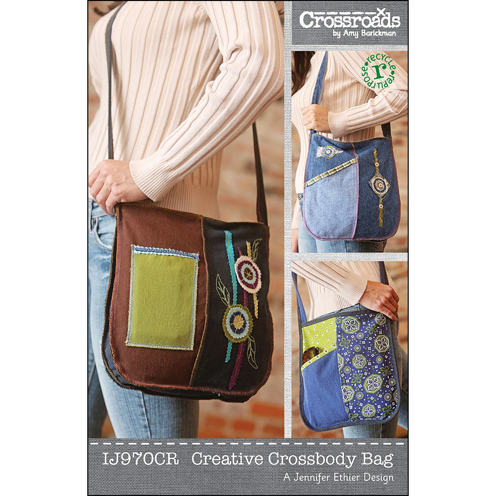 Creative Crossbody Bag sewing pattern from Indygo Junction ... c61a190e80969
