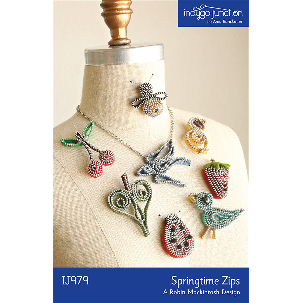 Springtime Zips Pins & Necklace Pattern