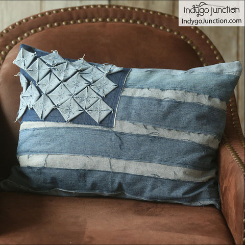 American & Union Jack Flag Patriotic Pillows Pattern