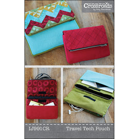 Quilted Chevron Travel Tech Pouch Pattern