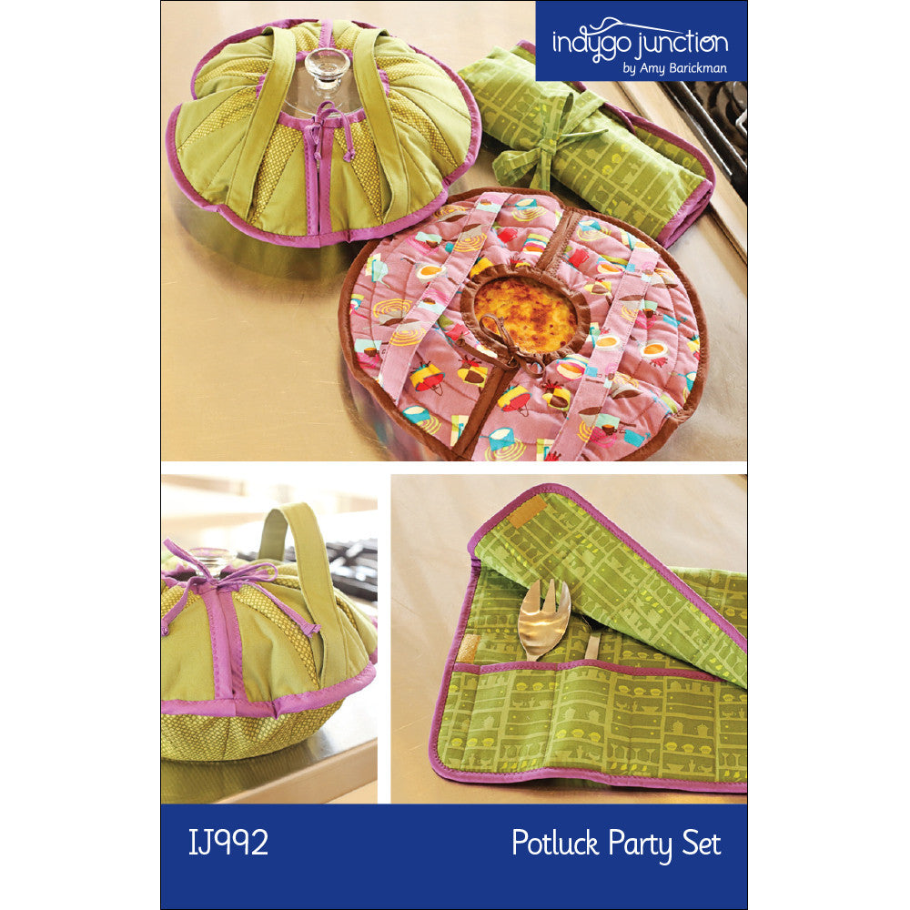 Potluck Circular Casserole & Servingware Party Set Pattern