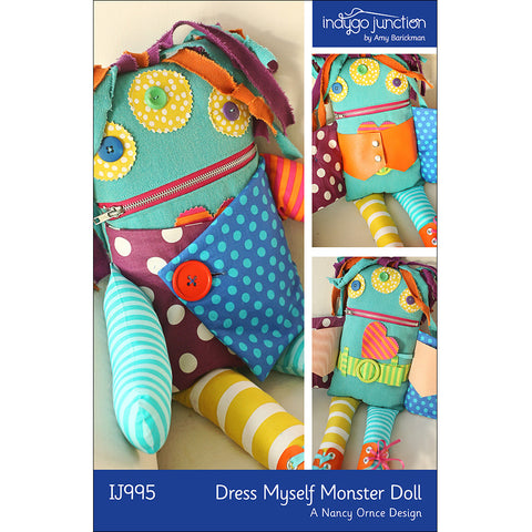 Dress Myself Monster Doll Pattern