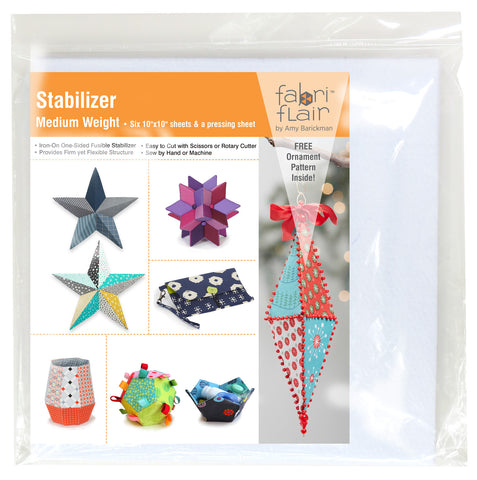 "Fabriflair Stabilizer 6 Pack of 10"" Squares"