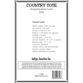 Pieced Country Tote Pattern