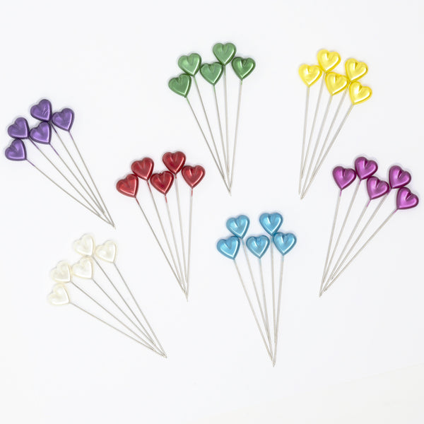 Dritz Heart Pearlized Pins, assorted colors