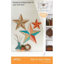 Wall Art Star Fabriflair Pattern