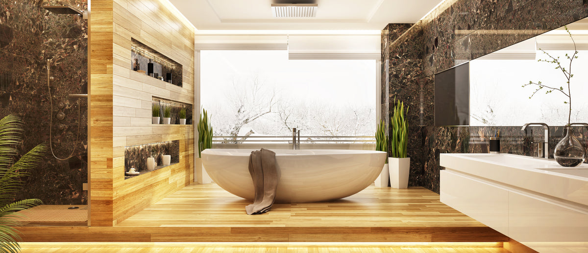 Marble And Wood Combination In Your Bathroom Room To Rooms