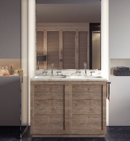 New Hottest Thing In Bathrooms⁠—Timber Vanities