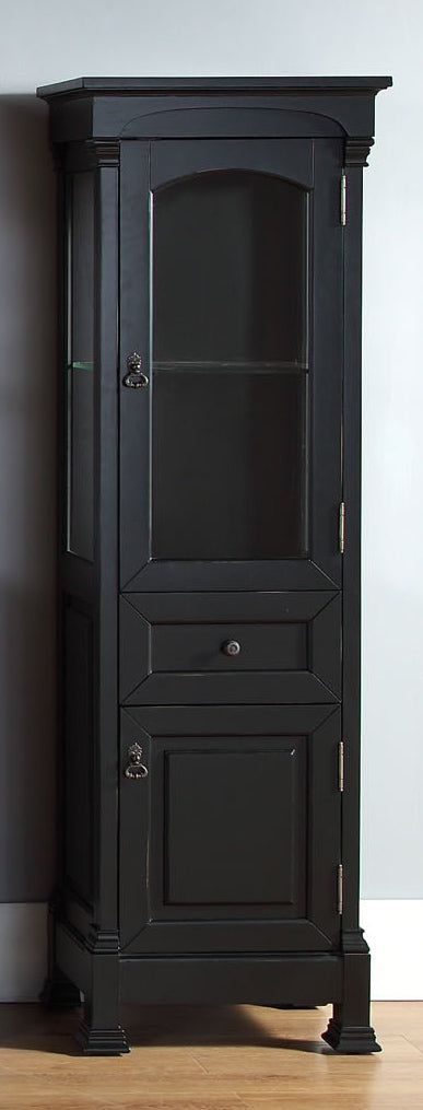 James Martin 147-114-5036 Brookfield Linen Cabinet, Antique Black